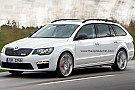 Skoda Superb Combi RS digitally illustrated