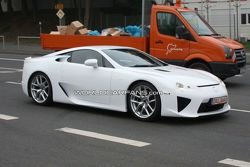 White Lexus LF-A Prototype Testing on Nurburgring