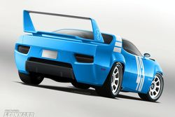 Plymouth Road Runner SUPERBIRD Concept artist rendering