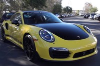 Porsche Exclusive 911 Turbo S is Bumblebee material [video]