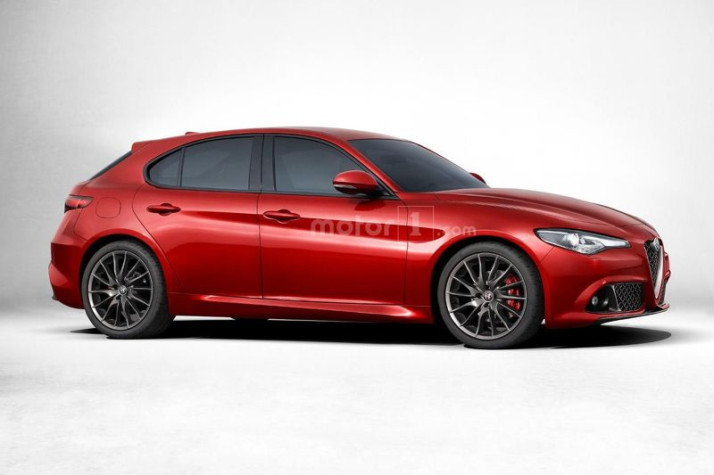 Alfa Romeo Giulietta 2016 rendering side view